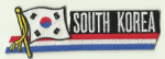 South Korea Embroidered Flag Patch, style 01.